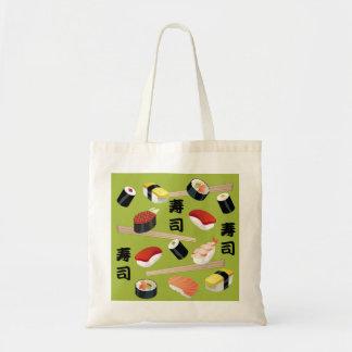 私は寿司のトートを愛します トートバッグ