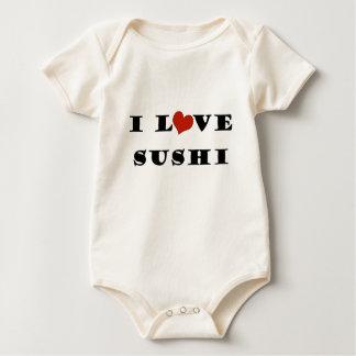 私は寿司を愛します ベビーボディスーツ