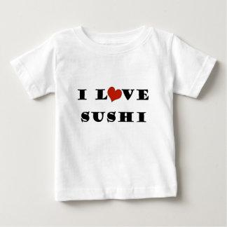 私は寿司を愛します ベビーTシャツ