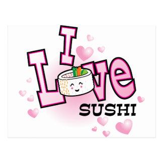 私は寿司を愛します ポストカード
