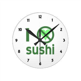 私は寿司を憎みます ラウンド壁時計