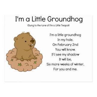 私は小さいGroundhogです ポストカード