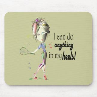 私は小剣の靴の芸術のテニスをしてもいいです マウスパッド