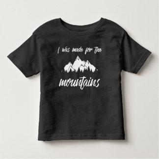 私は山の幼児Tの黒のためになされました トドラーTシャツ