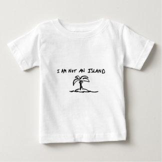 私は島ではないです ベビーTシャツ