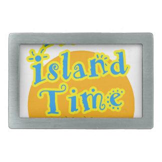 私は島の時間にあります! 長方形ベルトバックル
