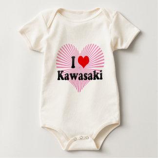 私は川崎、日本を愛します ベビーボディスーツ