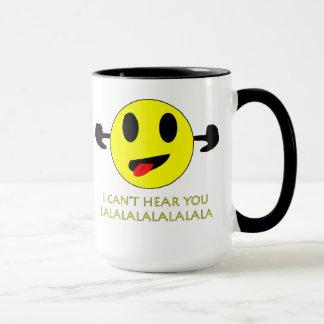 私は差し込まれるにこやかなマグの耳によって聞くことができません マグカップ