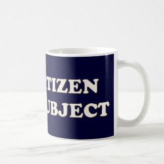 私は市民ない主題です コーヒーマグカップ