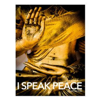 私は平和を話します: 平和の芸術の習得 ポストカード