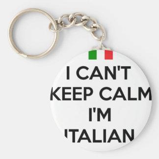 私は平静を保つことができません… 私はイタリアンです キーホルダー