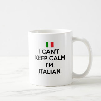 私は平静を保つことができません… 私はイタリアンです コーヒーマグカップ