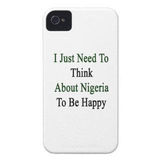 私は幸せであるためにちょうどナイジェリアについて考える必要があります Case-Mate iPhone 4 ケース