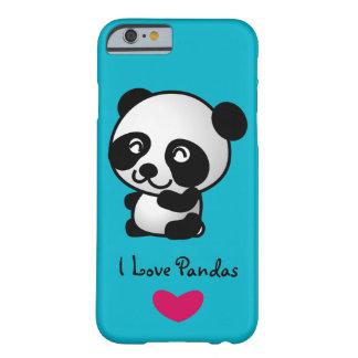 私は幸せなパンダくまを持つパンダを愛します BARELY THERE iPhone 6 ケース