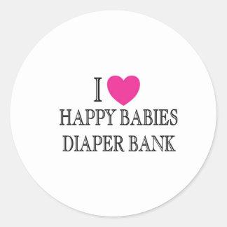私は幸せな赤ん坊のおむつ銀行を愛します ラウンドシール