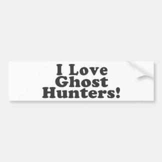 私は幽霊のハンターを愛します! バンパーステッカー
