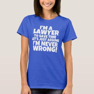 私は弁護士の女性のワイシャツです Tシャツ