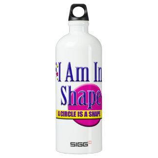 """私は形の""""フィットネス""""のスローガンにあります ウォーターボトル"""