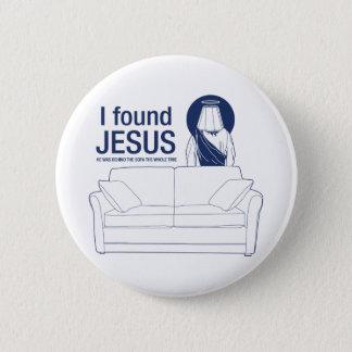 私は彼によってがソファの後ろに全チタニウムだったイエス・キリストを見つけました 缶バッジ
