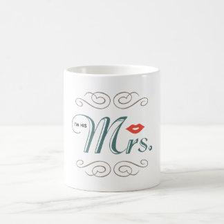 私は彼の夫人ですLips Wedding Engagement Type コーヒーマグカップ