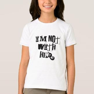 私は彼女とありません Tシャツ