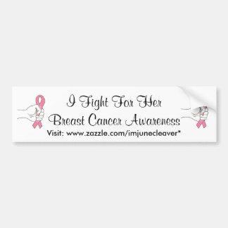 私は彼女の乳癌のバンパーステッカーのために戦います バンパーステッカー