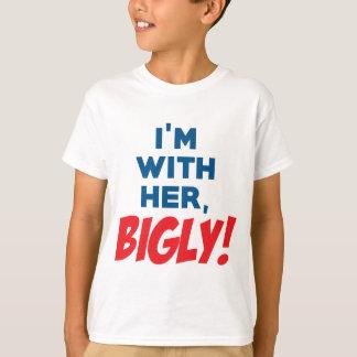 私は彼女のBIGLYとあります! Tシャツ