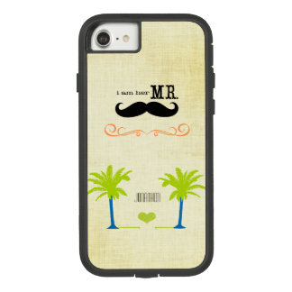 私は彼女のMustache Groom Beach氏のヤシの木です Case-Mate Tough Extreme iPhone 8/7ケース