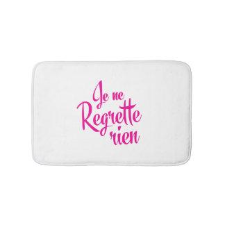 私は後悔- Je Ne Regrette Rienのフランス語--を有しません バスマット