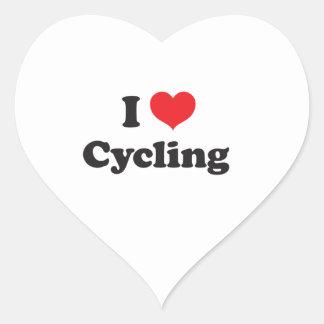 私は循環することを愛します ハートシール