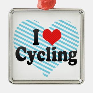 私は循環することを愛します メタルオーナメント