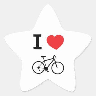私は循環することを愛します 星シール