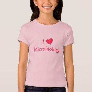 私は微生物学を愛します Tシャツ
