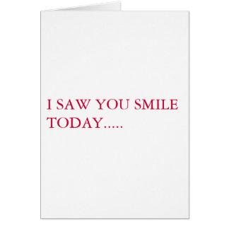 私は微笑するのを見ました カード