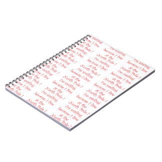 私は微笑ののでノートです ノートブック