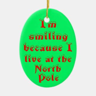 私は微笑のので楕円形のオーナメントです セラミックオーナメント