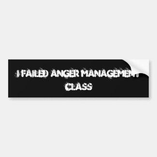 私は怒り管理クラスを失敗しました バンパーステッカー