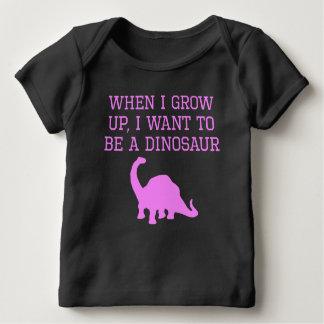 私は恐竜でありたいと思います ベビーTシャツ