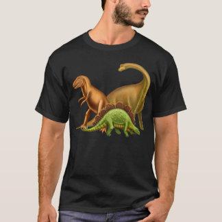 私は恐竜の大人の暗いTシャツを愛します Tシャツ