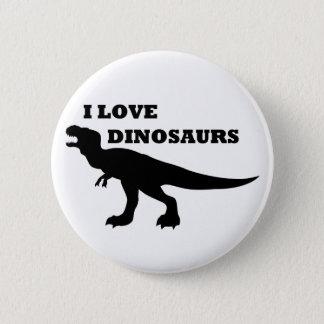 私は恐竜を愛します! 5.7CM 丸型バッジ