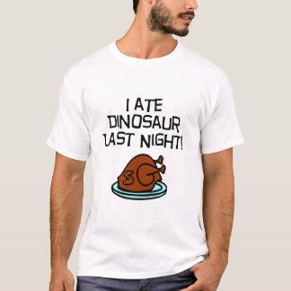 私は恐竜を食べました Tシャツ
