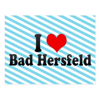 私は悪いHersfeld、ドイツを愛します ポストカード