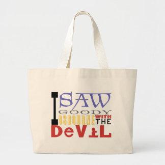 私は悪魔が付いている糖菓Osbourneを見ました ラージトートバッグ