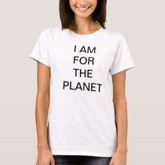 私は惑星のティーのためです Tシャツ