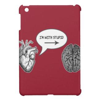 私は愚かとあります(頭脳へのハート) iPad MINIケース