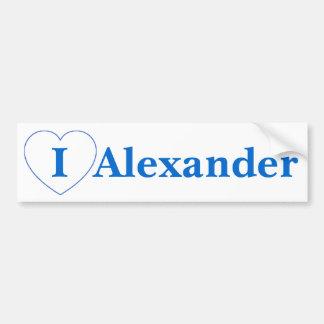 私は愛しますアレキサンダー(ビット/秒)を バンパーステッカー