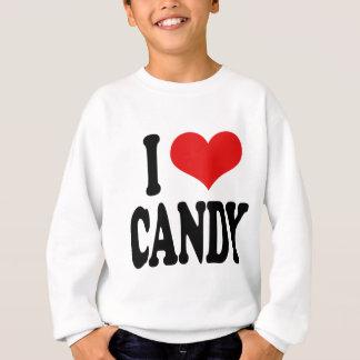 私は愛しますキャンデーの`を スウェットシャツ