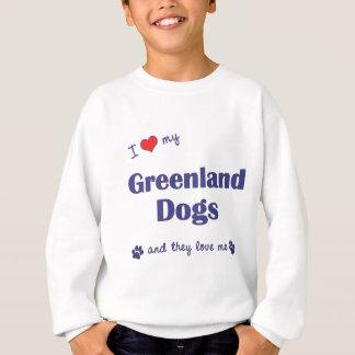 私は愛しますグリーンランド私の犬(多数犬)を スウェットシャツ