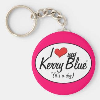私は愛しますケリーの私の青(それは犬です)を キーホルダー