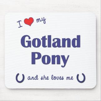 私は愛しますゴトランドの私の子馬(メスの子馬)を マウスパッド
